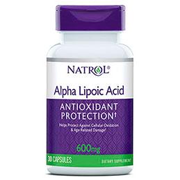 Alpha Lipoic Acid (ALA) 600 mg, 30 Capsules, Natrol