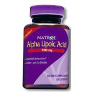 Alpha Lipoic Acid (ALA) 100mg 100 caps from Natrol