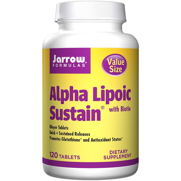 Alpha Lipoic Sustain 300, Value Size, 120 Bilayer Tablets, Jarrow Formulas