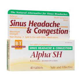 Image of Alpha SH, Sinus Headache & Congestion, 40 Tablets, Boericke & Tafel Homeopathic