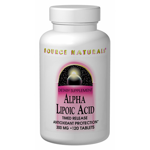 Alpha-Lipoic Acid 300mg Timed Release 120 tabs from Source Naturals