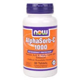 AlphaSorb-C 1000 mg, Buffered Bioavailable Vitamin C, 60 Tablets, NOW Foods