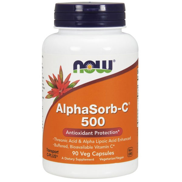AlphaSorb-C 500 mg, Buffered Bioavailable Vitamin C, 90 Vcaps, NOW Foods