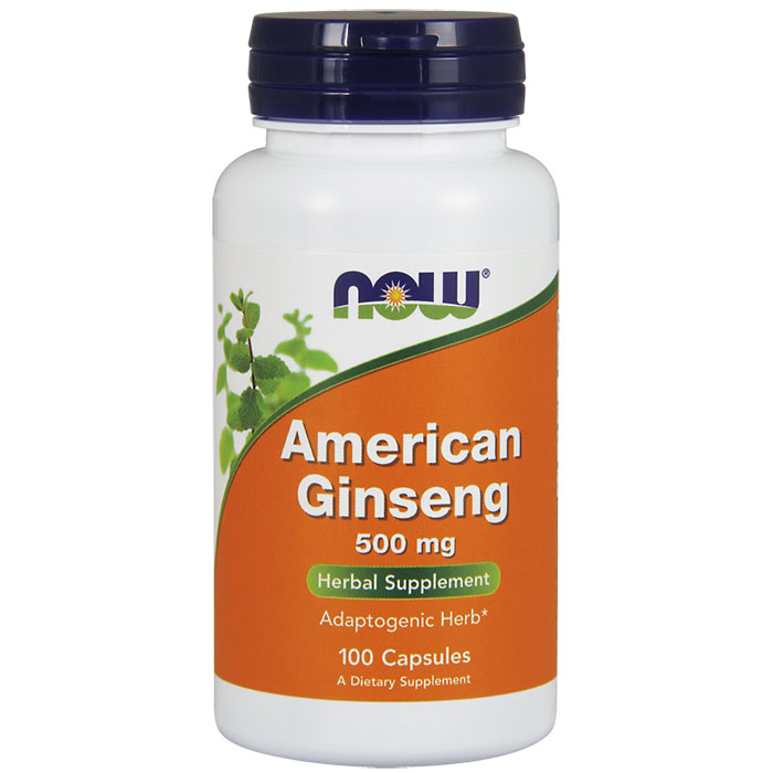 American Ginseng 500 mg, 100 Capsules, NOW Foods