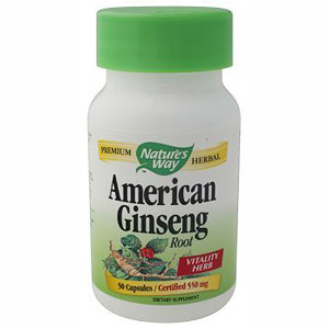 American Ginseng 550mg 50 caps from Natures Way