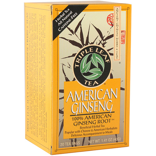 American Ginseng Tea, 20 Tea Bags x 6 Box, Triple Leaf Tea