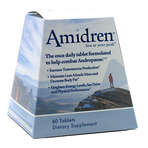 MHP Amidren Andro-T, For Men Over 40, 60 Tablets