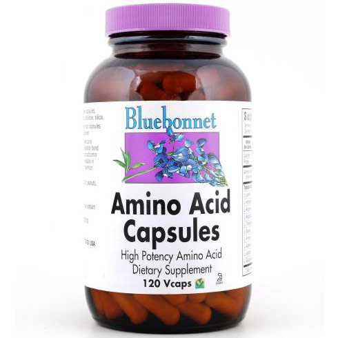Amino Acid Capsules 750 mg, 120 Vcaps, Bluebonnet Nutrition