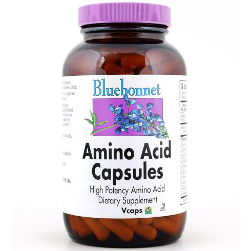 Amino Acid Capsules 750 mg, 180 Vcaps, Bluebonnet Nutrition