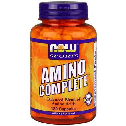AMINO Complete, Amino Acids Complex 120 Caps, NOW Foods