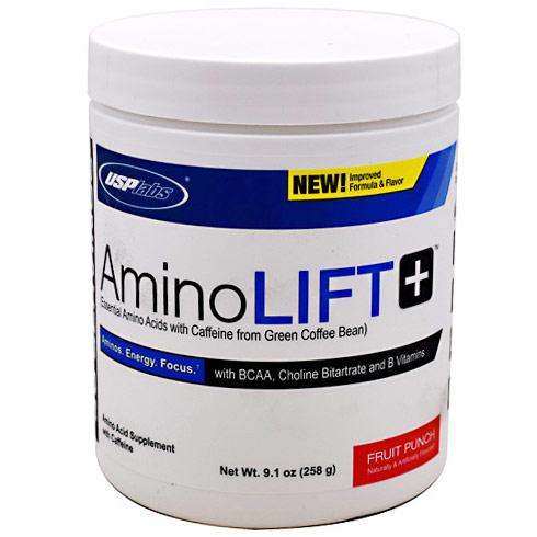 Amino Lift Plus Powder, Essential Amino Acids with Caffeine, 30 Servings (9.1 oz), USPLabs