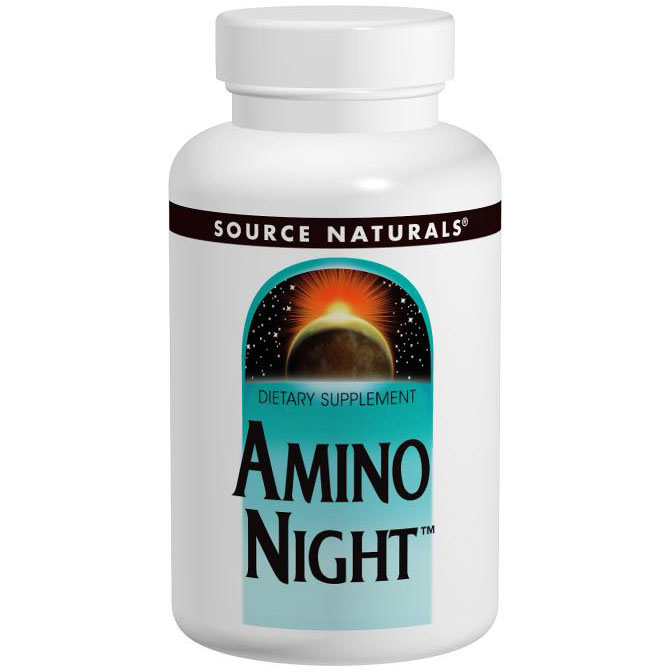 Amino Night, Potent Nighttime Formula, 120 Tablets, Source Naturals