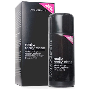 AminoGenesis Really, Really Clean Moisturizing Facial Cleanser, 6 oz