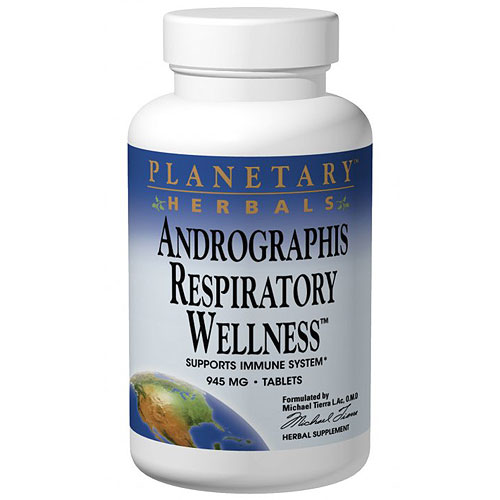 Andrographis Respiratory Wellness, 120 Tablets, Planetary Herbals