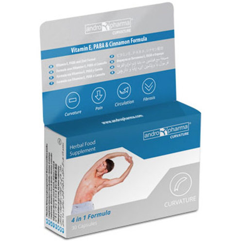 AndroPharma Curvature, Penis Curvature Correction Supplement, 2 Boxes (2 Month Supply), Andro Pharma