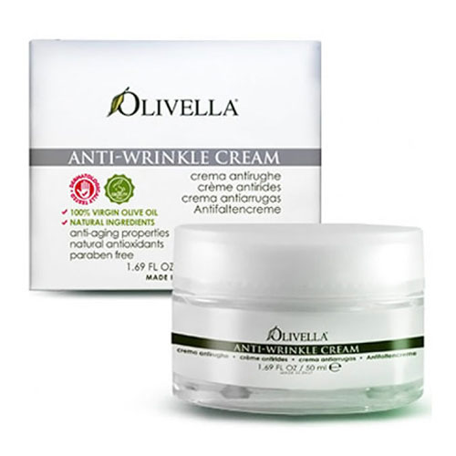Anti-Wrinkle Cream, Olive Oil Anti-Aging Skin Care, 1.69 oz, Olivella