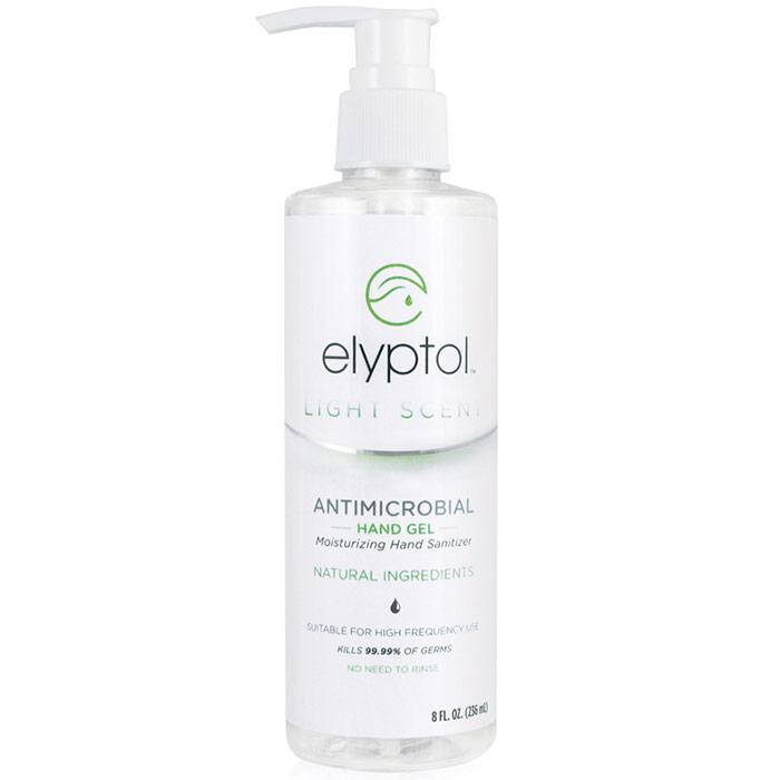 Antimicrobial Hand Sanitizer Gel, 8 oz, Elyptol