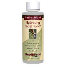 Antioxidant Properties Hydrating Facial Toner, 4.2 oz, NutriBiotic