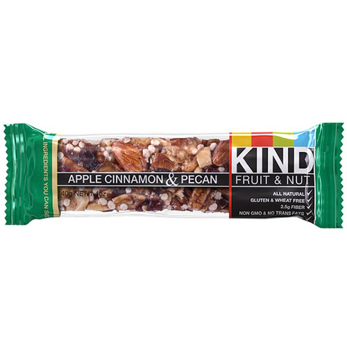Apple Cinnamon & Pecan Bar, 1.4 oz x 12 Bars, KIND Fruit & Nut Bars