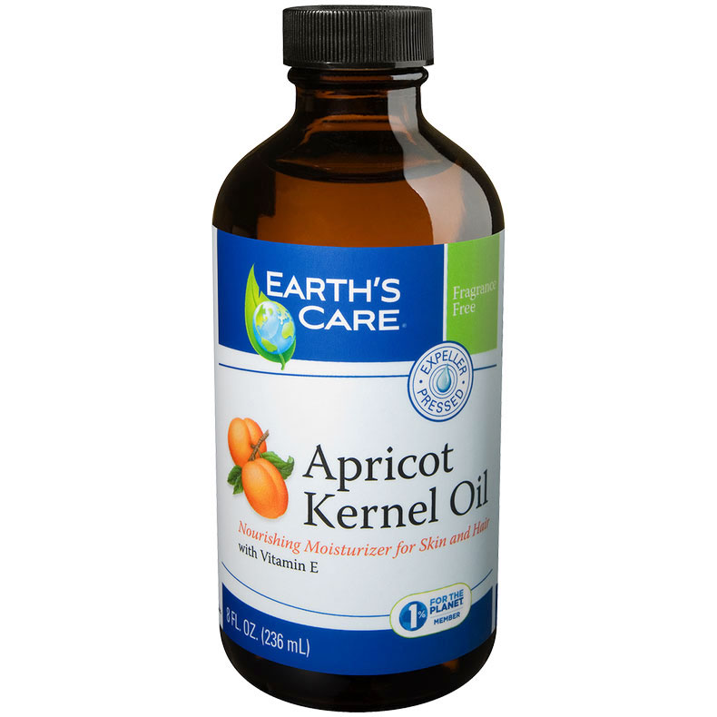 Apricot Kernel Oil, For Skin & Hair, 8 oz, Earth's Care