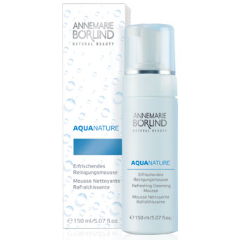 AquaNature Refreshing Cleansing Mousse, Facial Wash, 5.07 oz, AnneMarie Borlind