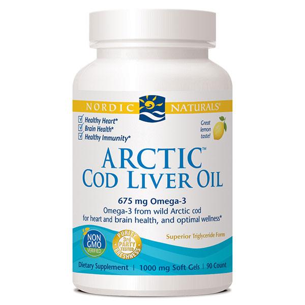 Arctic Cod Liver Oil 90 Capsules, Nordic Naturals