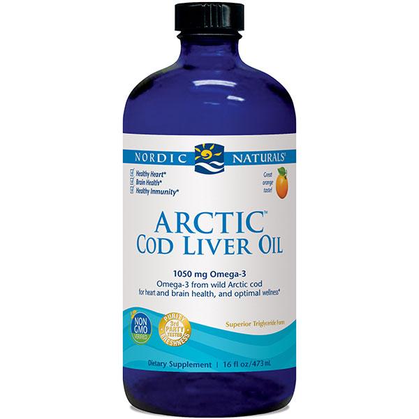 Arctic Cod Liver Oil Liquid - Orange 16 oz, Nordic Naturals