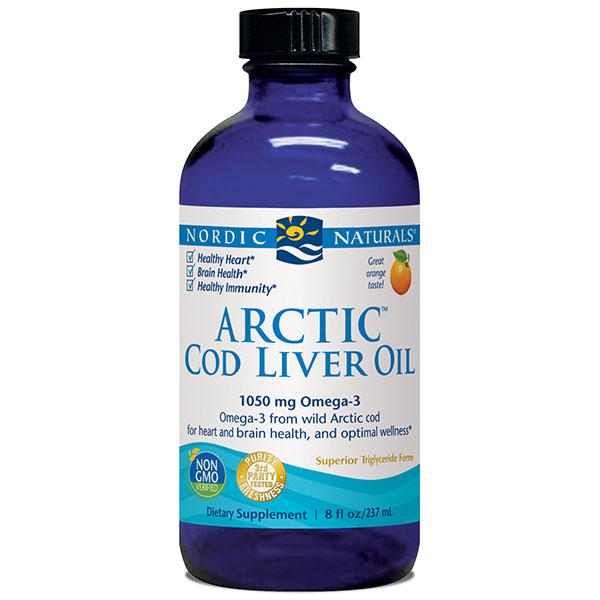 Arctic Cod Liver Oil Liquid - Orange 8 oz, Nordic Naturals