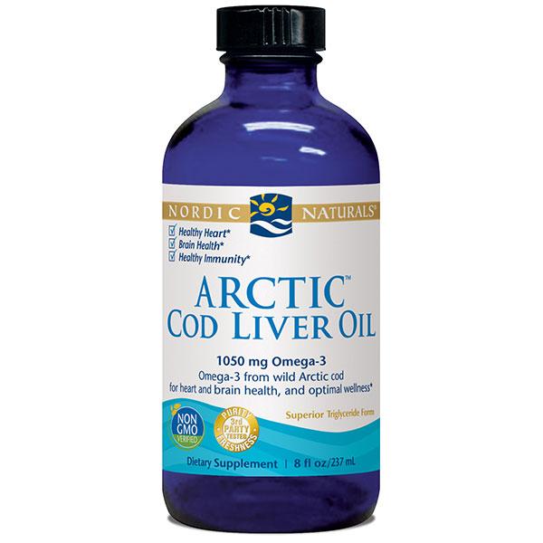 Arctic Cod Liver Oil Liquid - Plain 8 oz, Nordic Naturals