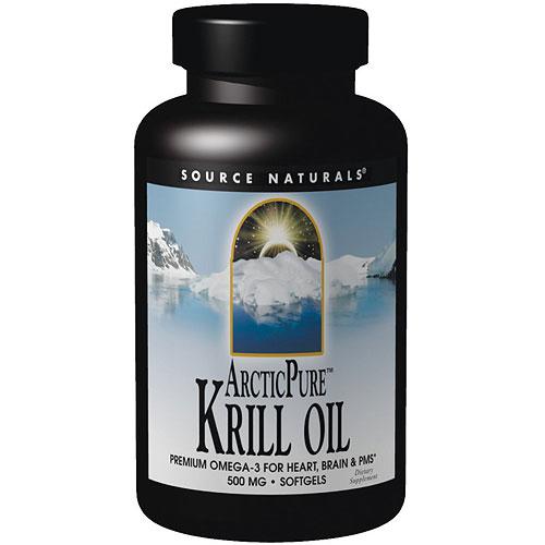 ArcticPure Krill Oil (Arctic Pure) 500mg, 120 Softgels, Source Naturals