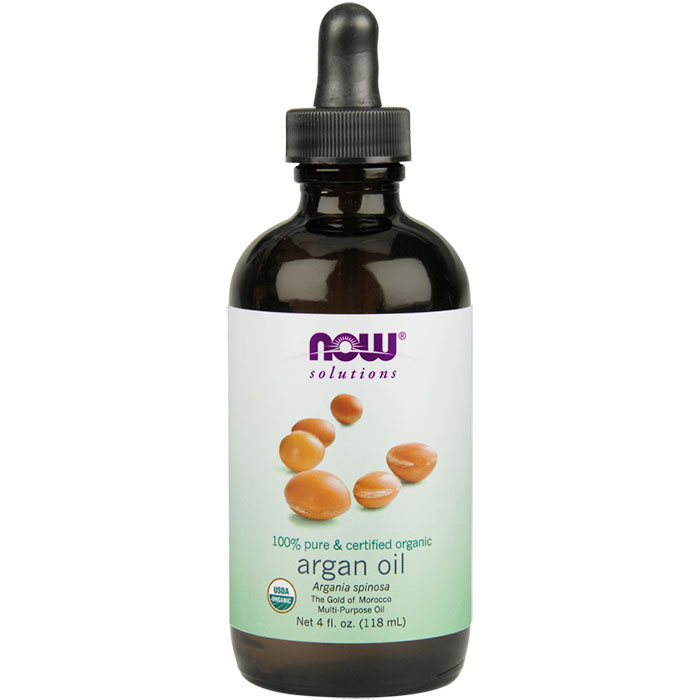 Argan Oil Certified Organic, 100% Pure, 4 oz, NOW Foods