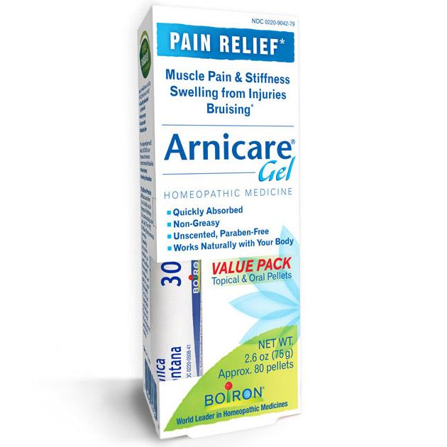 Arnicare Gel Value Pack - Topical Arnica Gel & Oral Pellets, 2.6 oz Tube + 80 Pellets, Boiron