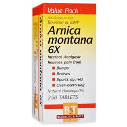Arnica Montana 6X, 250 Tablets, Boericke & Tafel Homeopathic