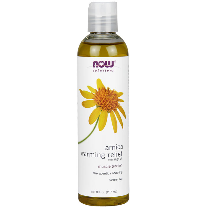 Arnica Warming Relief Massage Oil, 8 oz, NOW Foods