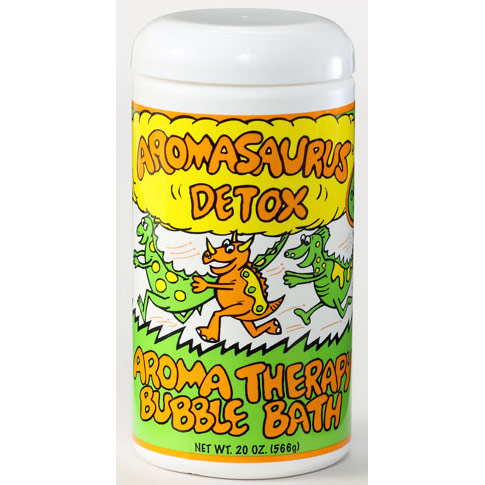Aromasaurus Detox, Kids Aroma Therapy Bubble Bath, Grapefruit & Green Tea, 20 oz, Abra Therapeutics