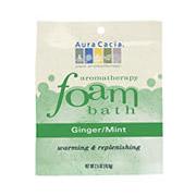 Aromatherapy Foam Bath Ginger Mint, 2.5 oz Pouch, Aura Cacia