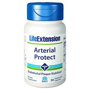 Arterial Protect, Endothelial Plaque Stabilizer, 30 Vegetarian Capsules, Life Extension