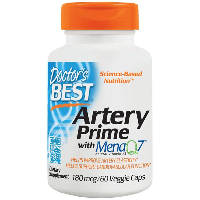 Artery Prime with Mena Q7, Vitamin K2 + D3, 60 Veggie Caps, Doctors Best
