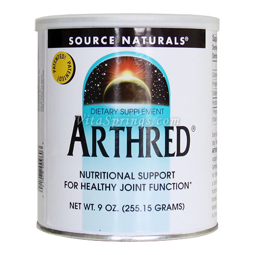 Arthred Hydrolyzed Collagen Powder, 9 oz, Source Naturals, for Joint Health