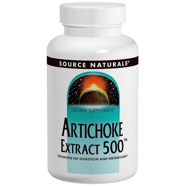 Artichoke Extract 500, Standardized, 90 Tablets, Source Naturals