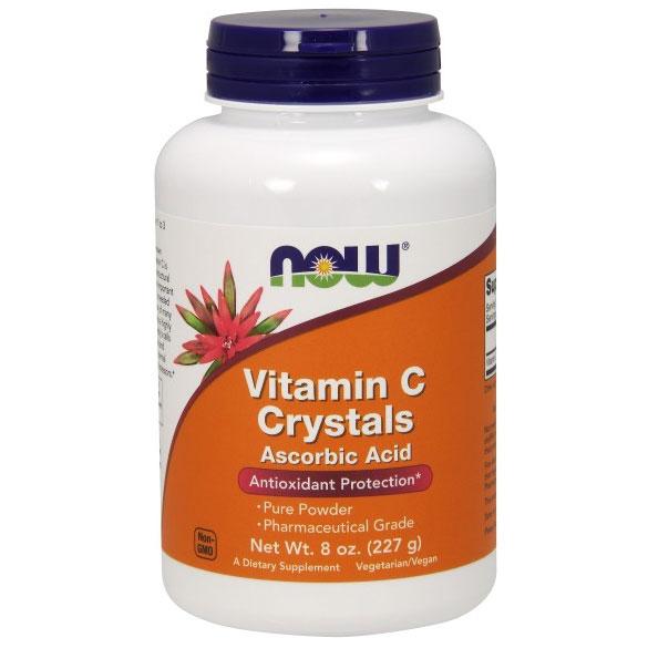 Vitamin C Crystals, Ascorbic Acid Pure Powder, 8 oz, NOW Foods