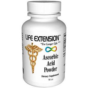 Ascorbic Acid Powder, 16 oz, Life Extension
