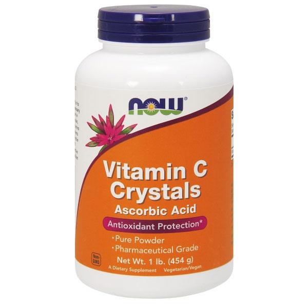 Vitamin C Crystals, Ascorbic Acid Pure Powder, 1 lb, NOW Foods