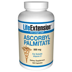 Ascorbyl Palmitate Caps 500 mg, 100 Capsules, Life Extension