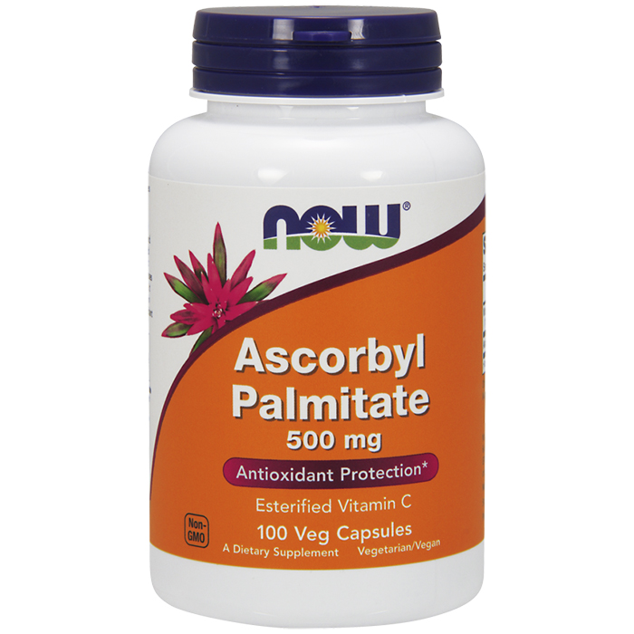 Ascorbyl Palmitate 500mg, Vitamin C 100 Vcaps, NOW Foods