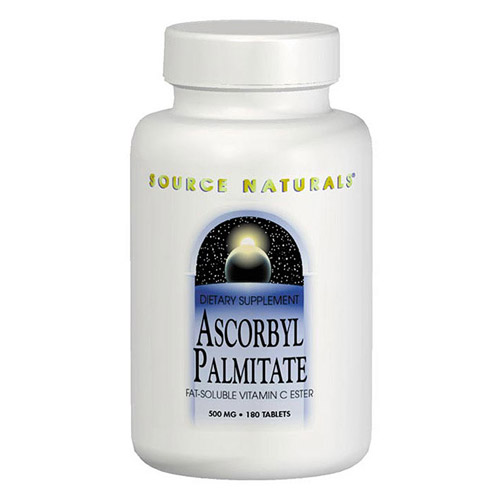 Ascorbyl Palmitate 500mg, Vitamin C Ester, 180 tabs from Source Naturals