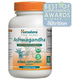 Ashwagandha, Anti-Stress & Energy, 60 Caplets, Himalaya Herbal Healthcare