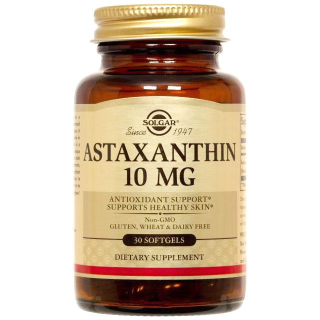 Astaxanthin 10 mg, 30 Softgels, Solgar