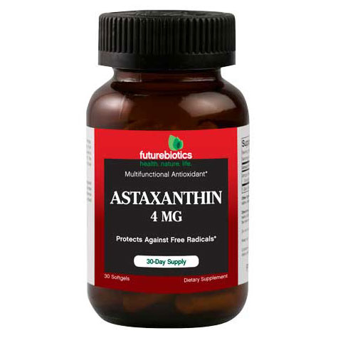 Astaxanthin 4 mg, 30 Softgels, FutureBiotics