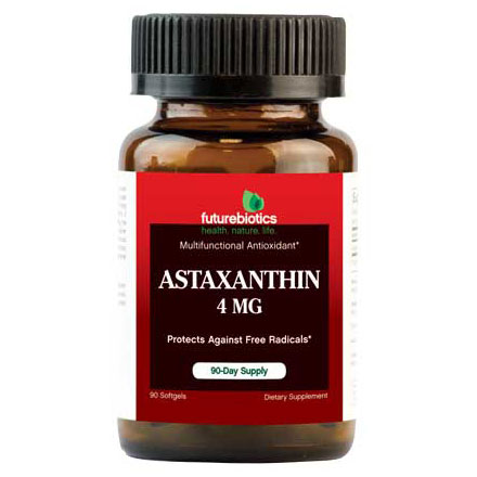 Astaxanthin 4 mg, 90 Softgels, FutureBiotics